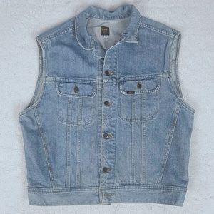 Vintage 1994 LEE Denim Trucker Jean Vest Size L